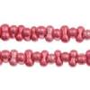 Bow Beads (Farfalle) 3.2x6.5mm Pink Metallic Terra-dyed Opaque